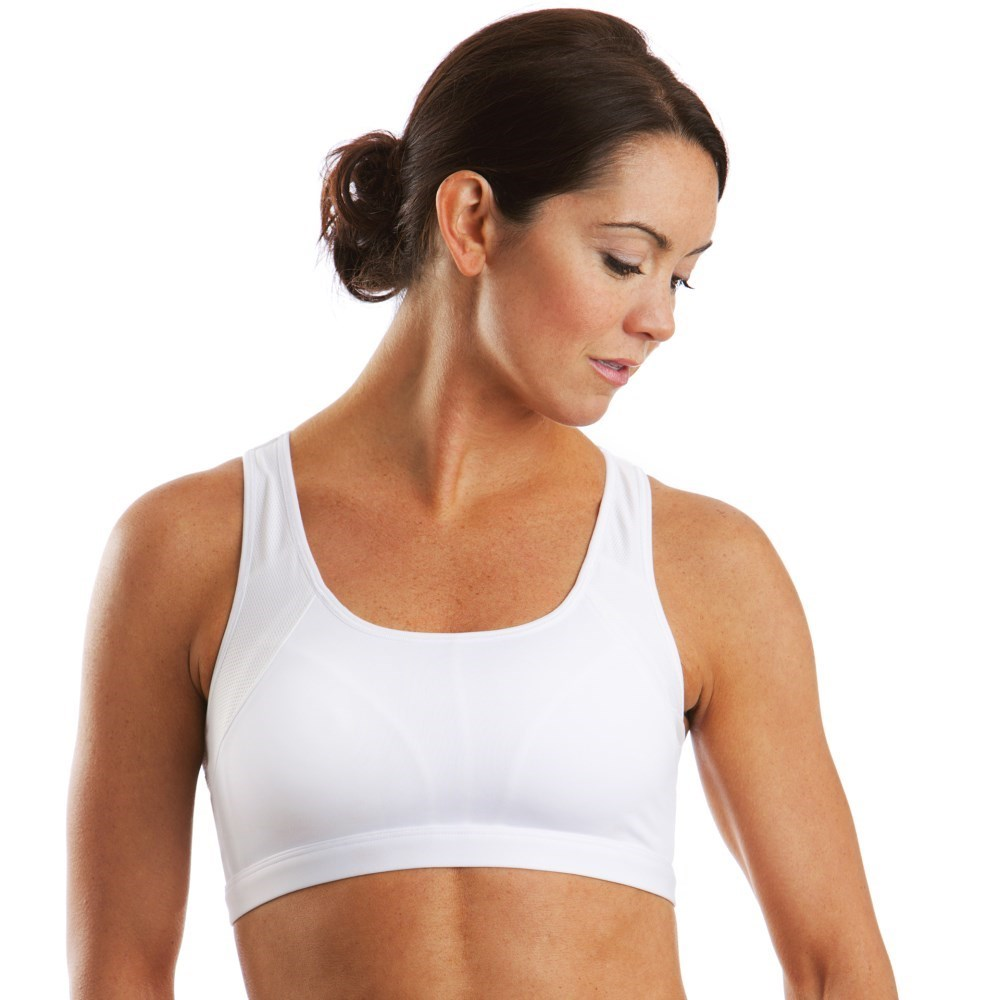 580420168b Moving Comfort Phoebe Sports Bra - A B Cup - White